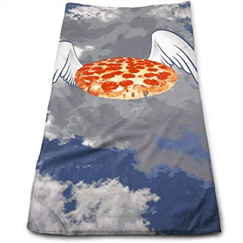 Toallas de mano de baño de pizza voladora, lavable a máquina, toallas de cocina para secado, limpieza de cocina, horneado