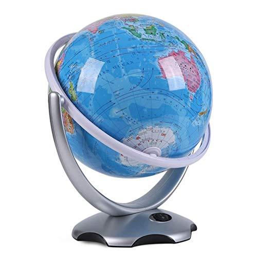 Globe, Tabletop Globe Globe, Political Antique Ocean Swivel and Tilt Globe, 10 Inch Swivels in All Directions/Educational/Decorative/Small World Desktop( Blue Led Light)