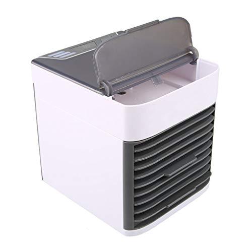 GGLL Condizionatore d'Aria,Raffreddamento di Aria Portatile, Mini Ventilatore del Condizionatore di USB, Ventilatore da Scrivania Mini Raffreddamento di Aria Evaporativo, Luce Notturna di 7
