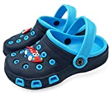 Vorgelen Zuecos Unisex Niños Verano Sandalias de Playa Respirable Antideslizante Piscina Jardín Zapatos Azul Navy 31 EU=Etiqueta 32