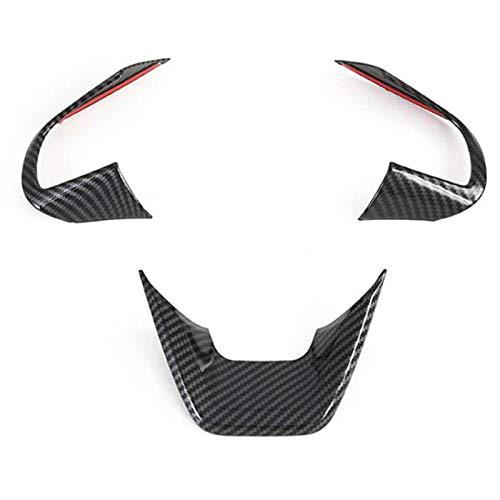 CarbonfaserLenkradabdeckung Zierrahmenaufkleber Innenverkleidung Autozubehör , für Hyundai Cantus Creta Ix25 2020