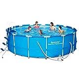 Sunton Prism Frame - Juego de piscina con filtro, marco de metal, fácil de instalar (18 pies x 48 pulgadas)