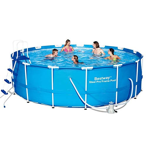Sunton Prism Frame Above Ground Swimming Pool Set with Filter,Metal Frame Swimming Pool Kit Easy to...