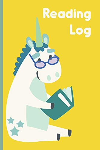 Reading Log: 6 x 9', 108 Page Easy to Use Reading Log for Kids to Chart Progress and Track School and Summer Books | Unicorn Art Cover
