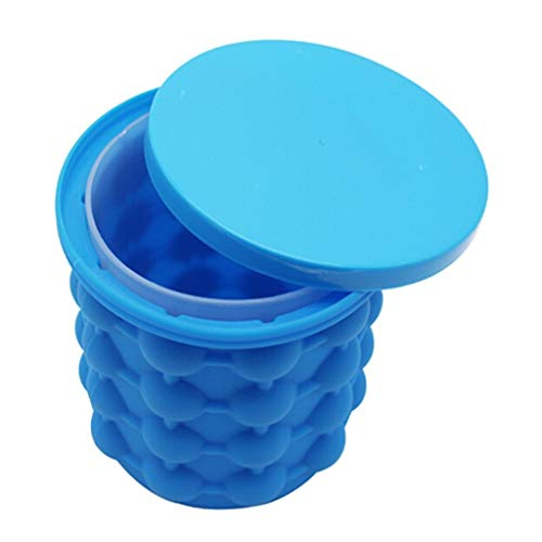 Portable Ice Bucket Large Silicone Ice Bucket & Ice Mold with Lid Space Saving Silicon Ice Cube Portable Silicon Ice Cube Maker Keep Ice Frozen Longer Ice Holder