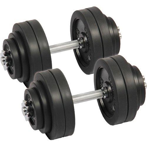 [リーディングエッジ] ラバーダンベル 60kg セット 片手 30kg 2個セット ブラック LE-DB30 ダンベルセット