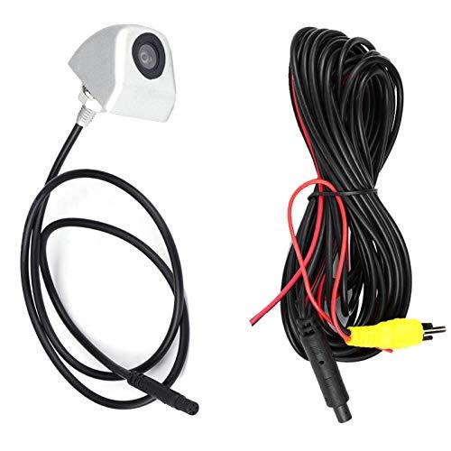 Cámara de visión trasera CCD impermeable IP68, cámara de estacionamiento de respaldo de alta definición, para automóvil para camión RV Mini-van(Silver)