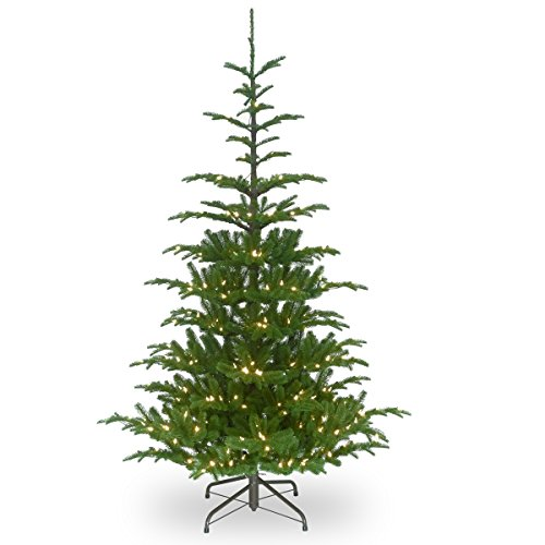 National Tree Company 'Feel Real' Pre-lit Artificial Christmas Tree | Includes Pre-strung White Lights and Stand | Norwegian Spruce - 7.5 ft