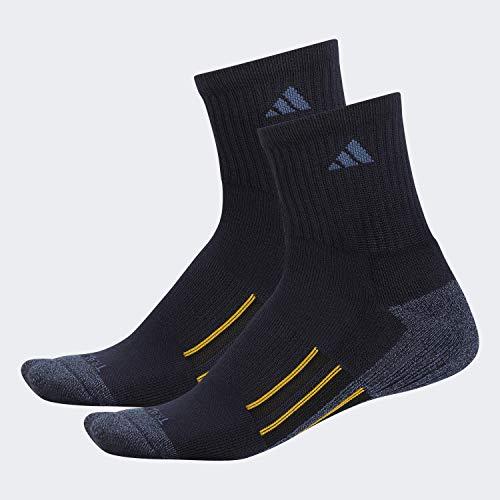 adidas Herren Climalite X II Mid-Crew Socken (2 Stück) Größe L Legend Ink Blue/ Tech Ink Grey - Legend Ink Blue Marl