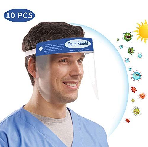 Pantalla Protectora Facial Transparente, Visera Protectora Reutilizable...