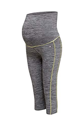 ESPRIT Maternity Damen Legging OTB Capri Umstands Sporthose, Grau (Medium Grey 035), 38 (Herstellergröße: M/L)