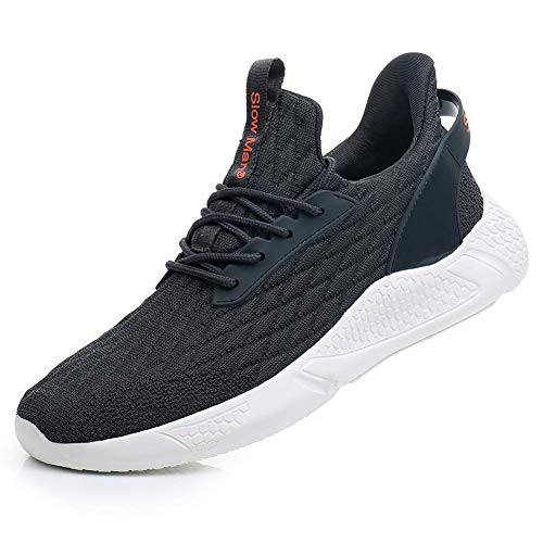 Men's Shock Cushioning Running Shoes - Comfortable Cushioning Lace-up Boost Shoes for Road Running Jogging Dark Grey,11.5