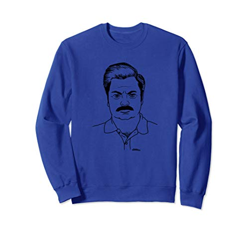 Parks & Recreation Ron Swanson Cartoon Sweatshirt