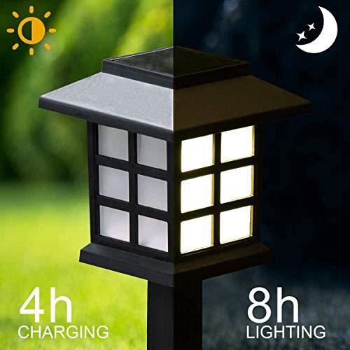 GIGALUMI 12 Pack Solar Pathway Lights Outdoor, Waterproof Outdoor Solar Lights for Garden, Landscape, Path, Yard, Patio, Driveway, Walkway