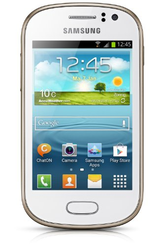 Samsung Galaxy Fame Smartphone (8,9 cm (3,5 Zoll) TFT-Display, 1GHz, 512MB RAM, 5 Megapixel Kamera, 4GB interne Speicher, USB 2.0, Android 4.1) pearl-white