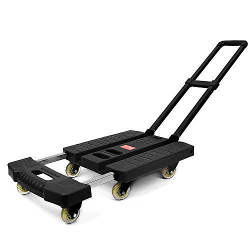 台車 折りたたみ式 軽量 静音 キャリーカートタイヤ大きい 360度 回転でき 防災グッズ避難 アウトドア 荷物運びに便利耐荷重:250kg