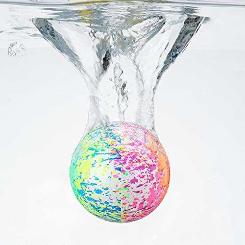 Balón de fútbol acuático de PVC, bajo el agua, pelota de sandía, pelota de agua, pelota de saltar, pelota para niños, pelota subacuática (1 unidad), color blanco