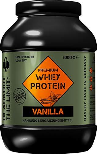 Blackout The Limit® Whey Protein Pulver Vanille extra cremig, Molkenprotein mit echter Vanille, entwickelt mit Experten aus Spezialeinheiten für Deinen maximalen Erfolg! 1kg made in Germany