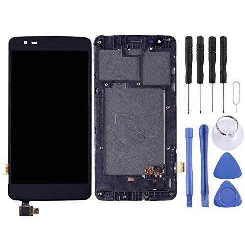 WANGZHEXIA Reemplazo de la Pantalla del teléfono Montaje Completo de Pantalla LCD y digitalizador con Marco para LG K8 2017 Dual SIM X240 X240H X240F X240K