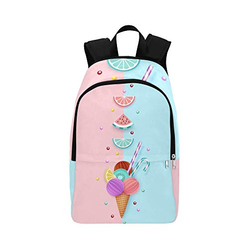 WJJSXKA Messenger Bookbag Watermelon Lemon Combination Durable Water Resistant Classic Bag for Hiking Women Sports Bag Women Casual Men Bag College Messenger Bag for Men