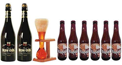 Pack Kwak 2 cervezas x 75 cl + 6 cervezas 33 cl+ copa Original