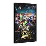 Animation Series Star Wars The Clone Wars Temporada 1 Lienzo Póster Decoración de Dormitorio, Paisaje Deportivo Oficina Decoración Regalo 60 × 90 cm Marco: 1