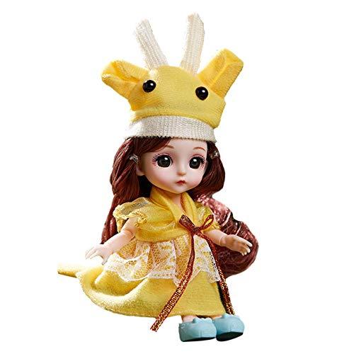 Ishine Juego de juguete para niña con diseño del zodiaco Dressup Princesa, con 13 articulaciones móviles, caja de regalo con gafas y soporte