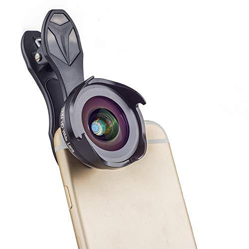 Lente de cámara de teléfono celular 6 en 1 Kit de lente de teléfono para iOS Android Macro lente y lente gran angular conjunto de polea