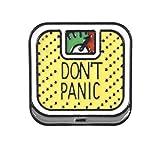 Patch Nation Don't Panic Gewichtsskala Badge Pin Brosche Anstecker (Gelb)