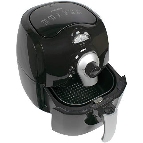 Brentwood Electric Air Fryer 1400-Watt, Timer & Temp. Control, 3.7 Quart, Black