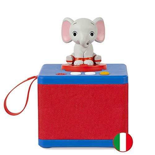 FABA- Raccontastorie Blu – Cassa Audio con Personaggio Sonoro Ele l'Elefante, FBC10002, Colore Accessori