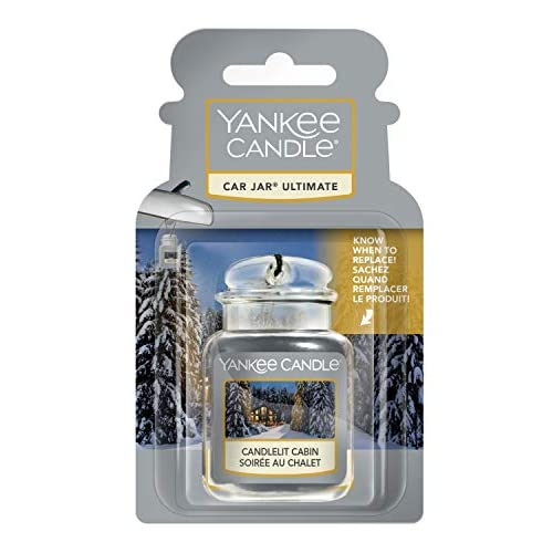 Yankee Candle Car Jar Ultimate profumatore per auto, In baita a lume di candela, collezione Natale in montagna