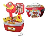 IndusBay® Mini Tool Box Toy Set for Kids - 13 Pieces Engineering Toolbox Set Toy for Childrens Boys