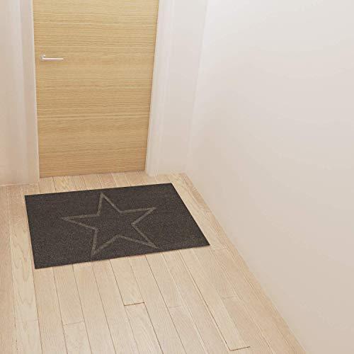 Montse Interiors, S.L. Felpudo/Alfombra Entrada de Casa Estrella Gris (Leia, 40x60)