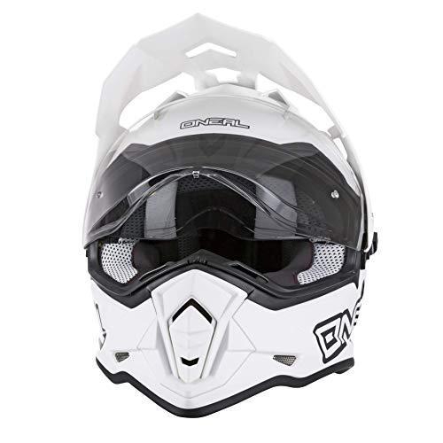 O'Neal 0817-514 Unisex-Adult Full-face Style Sierra II Helmet Flat White L (59/60cm) (Large)