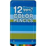トンボ鉛筆 色鉛筆 ippo! スライド缶 12色 CL-RPM0212C プレーンM