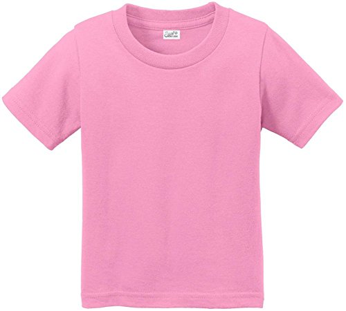 Joe's USA Toddler Tees Soft and Cozy Cotton T-Shirt Size-2T,Candy Pink