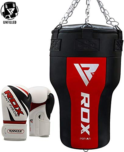 RDX Heavy Upper Cut Angled Punch Bag Boxing Gloves UNFILLED MMA Punching Training Sparring