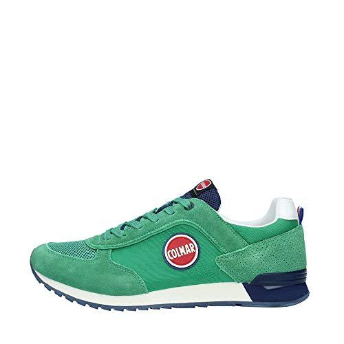 Colmar Scarpe da Uomo Sneakers Travis in camoscio Verde TRA-COL-015