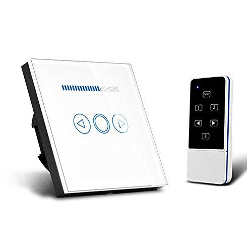 Interruptores de intensidad RF inalámbrico con mando a distancia, panel táctil de 110 V a 220 V, retroiluminación LED azul compatible con Broadlink