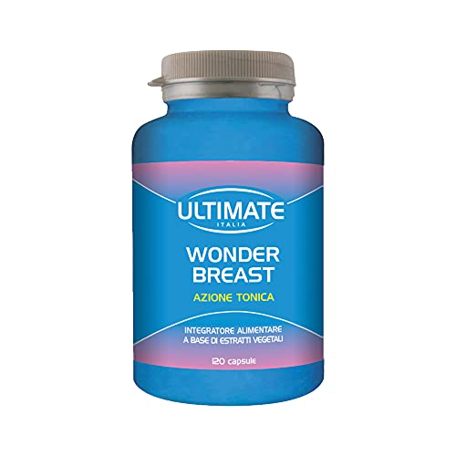 Ultimate Italia - Wonder Breast - Favorisce La Compattezza, La Tonicità E Il Volume Del Seno In Modo Naturale E Progressivo - Un Seno Più Voluminoso E Alto Senza Chirurgia Estetica - 120 Capsule