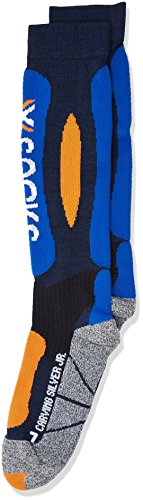 X-Socks Calcetines de esquí Carving Silver Junior Blue Marine/Cobalt Blue Talla:24/26