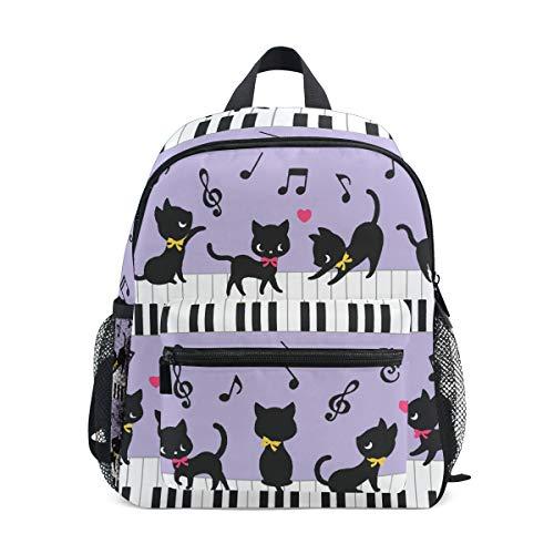 CPYang Sac à dos pour enfant Motif animal chat Piano Note de musique Sac d'école maternelle pour...