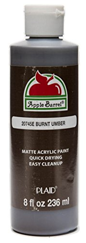 Apple Barrel Acrylic Paint in Assorted Colors (8-Ounce), Burnt Umber