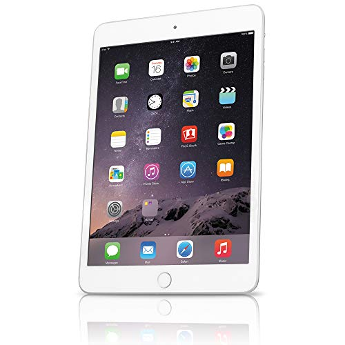 Apple MGGT2LL/A iPad Mini 3, 64GB, Wi-Fi - Silver - (Renewed)
