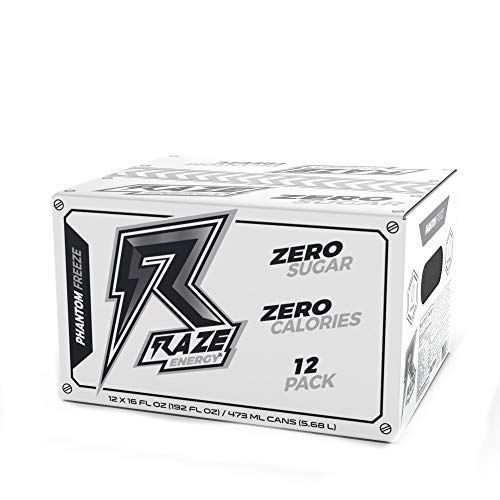 Raze Energy Drink | Performance and Hydration - Phantom Freeze 12 Pack