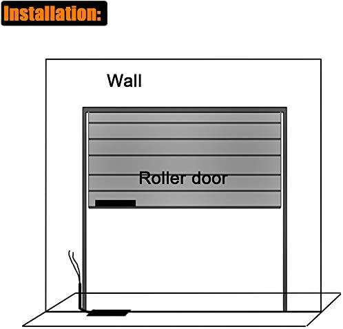2 Paket HWMATE NC Overhead T/ür Magnetkontakt Reed Schalter Alarm mit Einstellbarer L Halterung f/ür Rolltor Zink Fall