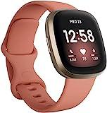 Fitbit Versa 3 - Smartwatch Pink Clay/Gold Aluminum