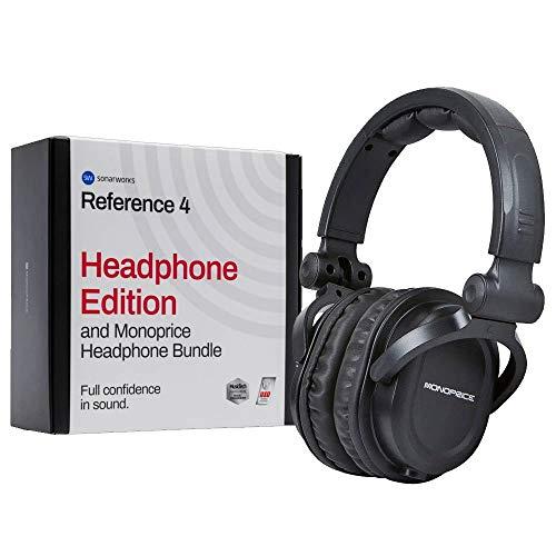 Sonarworks Reference 4 Headphone Edition & Monoprice Premium Hi-Fi DJ Headphone Bundle – Headphone Calibration Plug-In