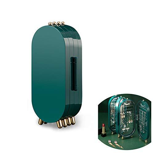 Caja de joyería Plegable Organizador Gabinete Tiene 153 Slots Lujo Desktop Jewelry Caja de Almacenamiento Joyería Mostrar Caja Pendientes Joyería Multilayor Aunque a Prueba de Polvo Joyero